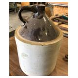 BROWN OVER WHITE JUG