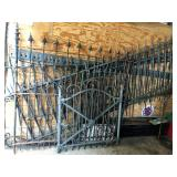 DECORATIVE WROUGHT IRON FENCING AND GATE