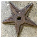 EARLY CAST IRON BRICK REINFORCED STAR