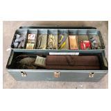 RETRO TACKLE BOX AND CONTENTS