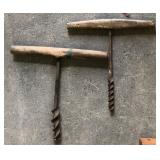 2 EARLY MANUAL AUGERS