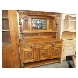 VERY FANCY CARVED FRONT SIDEBOARD