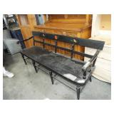 EARLY PLANK SEAT DEACONS BENCH