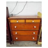 EARLY EMPIRE STYLE 5 DRAWER HIGH CHEST