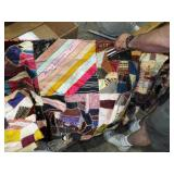 SIGNED AND DATED PARTIAL CRAZY QUILT