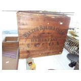 WOODEN BAKER COCOA BOX