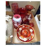 CRANBERRY AND RUBY GLASS