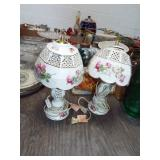 DECORATED CHINA LAMPS