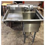 1 bay s/s sink w/side splash