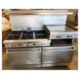Imperial 6 burner range w/side grill