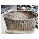 SPLIT OAK DOUBLE HANDLE BASKET