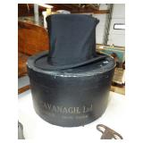 EARLY COLLAPSIBLE  TOP HAT AND BOX
