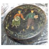 FOLKART ROUND KITCHEN BOX