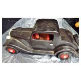 ANTIQUE WOOD TOY CAR