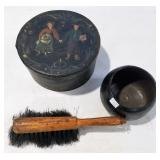 FOLKART BOX INDIAN BOWL PRR BRUSH
