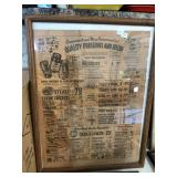 "Vintage Framed ""Acme Super Markets"" Advertisement"