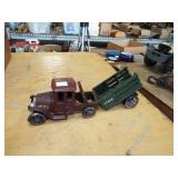 CAST IRON TRUCK AND WAGON