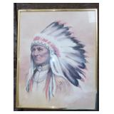 INDIAN CHIEF PRINT