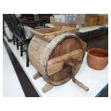 WOOD CRANK BUTTER CHURN