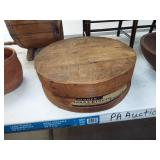 ROUND WOOD CHEESE BOX