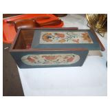 FOLKART DECORATED SLIDE LID BOX