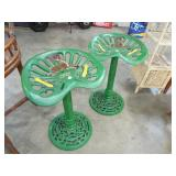 UNUSUAL CAST IRON IMPLAMENT STOOLS