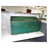 GREEN PAINTED DOVETAIL CHEST