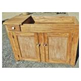 EARLY 2 DOOR 1 DRAWER DRY SINK
