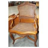 CANE SEAT & BACK ARM CHAIR
