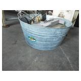 RETRO GALVANIZED WASH TUB