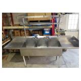 3 bay ss sink