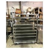 Rolling shelf cart