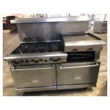 Royal 6 burner range w/flat grill