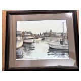 """City Dock, Annapolis"" 190/950 by Paul DeRemingis Jr. signed & numbered."