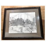 """St. Michaels, MD."" 675/850 Limited Edition framed print signed by Martin Barry"