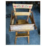 SMALL DECORATED HIGH CHAIR