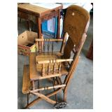 EARLY CANE SEAT HIGH CHAIR