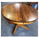 ANTIQUE ROUND PEDESTAL TABLE