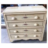 VICTORIAN CARVED PULL 4 DRAWER CHEST