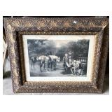 VICTORIAN PRINT GILDED FRAME