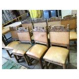 EARLY 8 STRETCHER BACK PRESSED BACK CHAIR