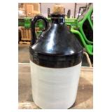 EARLY BROWN OVER WHITE STONEWARE JUG