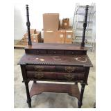 EARLY MAHOGANY ROPE EDGE DRESSING STAND