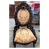 LADIES FANCY CARVED VICTORIAN SIDE CHAIR