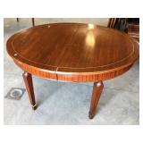 FANCY INLAID TOP TAPERED LEG TABLE