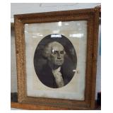 GEORGE WASHINGTON IN GILDED FRAME