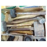ASSORTED HAMMERS AND TOOLS