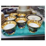 FRENCH DECORATED DINNERWARE