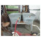 GALVANIZED DOUBLE TUB AND STAND