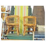 CHILD SIZE WICKER CHAIRS